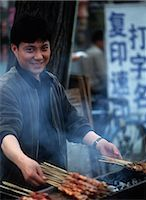 food stalls - Kebab maker in central Beijing,Beijing,China                                                                                                                                                             Stock Photo - Premium Rights-Managednull, Code: 851-02959064