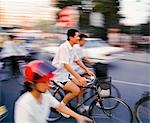 Cyclists,Beijing,China                                                                                                                                                                                   Stock Photo - Premium Rights-Managed, Artist: Axiom Photographic       , Code: 851-02959073