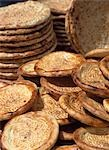 Fresh naan breads for sale,Kashgar,Xinjiang,China.                                                                                                                                                       Stock Photo - Premium Rights-Managed, Artist: Axiom Photographic       , Code: 851-02959207