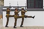 Three soldiers marching towards the tomb of Jose Marti,Cementerio Santa Ifigenia,Santiago de Cuba,Cuba                                                                                                   Stock Photo - Premium Rights-Managed, Artist: Axiom Photographic       , Code: 851-02959415