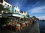 Cafes on the harbourfront area,Punda,Willemstad,Curacao                                                                                                                                                  Stock Photo - Premium Rights-Managed, Artist: Axiom Photographic       , Code: 851-02959427