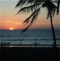 Beach sunset,Goa,India                                                                                                                                                                                   Stock Photo - Premium Rights-Managednull, Code: 851-02960331