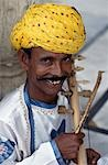 Musician,Jaipur,Rajasthan,India.                                                                                                                                                                         Stock Photo - Premium Rights-Managed, Artist: Axiom Photographic       , Code: 851-02960479