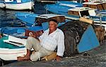 Old fisherman,Marina Grande,Capri,Italy                                                                                                                                                                  Stock Photo - Premium Rights-Managed, Artist: Axiom Photographic       , Code: 851-02960667