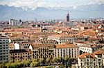 View of Turin with Cappuccini Mountain,Piemonte,Italy                                                                                                                                                    Stock Photo - Premium Rights-Managed, Artist: Axiom Photographic       , Code: 851-02960755