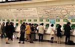 Commuters buying tickets,Ueno Station,Tokyo,Japan                                                                                                                                                        Stock Photo - Premium Rights-Managed, Artist: Axiom Photographic       , Code: 851-02961221