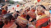 Samburu dancers at courtship ceremony,Samburuland,Kenya                                                                                                                                                  Stock Photo - Premium Rights-Managednull, Code: 851-02961272
