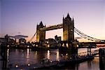 Tower Bridge at dusk,London,England,UK                                                                                                                                                                   Stock Photo - Premium Rights-Managed, Artist: Axiom Photographic       , Code: 851-02961457