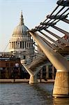 Millennium Bridge & St. Paul's,London,England,UK                                                                                                                                                         Stock Photo - Premium Rights-Managed, Artist: Axiom Photographic       , Code: 851-02961540