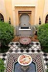 Riad Al Moussika,Marrakesh,Morocco,The former residence of the Pasha of Marrakesh                                                                                                                        Stock Photo - Premium Rights-Managed, Artist: Axiom Photographic       , Code: 851-02962191