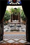 Courtyard in Riad Al Moussika,Marrakesh,Morocco                                                                                                                                                          Stock Photo - Premium Rights-Managed, Artist: Axiom Photographic       , Code: 851-02962200