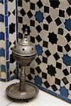Incense burner and mosaic wall,Marrakech (Marrakesh),Morocco                                                                                                                                             Stock Photo - Premium Rights-Managed, Artist: Axiom Photographic       , Code: 851-02962220