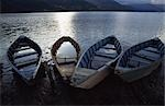 Wooden boats filled with water,Nepal                                                                                                                                                                     Stock Photo - Premium Rights-Managed, Artist: Axiom Photographic       , Code: 851-02962349
