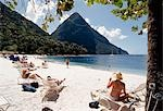 Ladera Resort Beach,St. Lucia                                                                                                                                                                            Stock Photo - Premium Rights-Managed, Artist: Axiom Photographic       , Code: 851-02962737