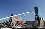 People on Calatrava bridge,Bilbao,Spain                                                                                                                                                                  Stock Photo - Premium Rights-Managed, Artist: Axiom Photographic       , Code: 851-02963025
