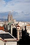 Cityscape with Sagrada Familia Church in background,Barcelona,Spain                                                                                                                                      Stock Photo - Premium Rights-Managed, Artist: Axiom Photographic       , Code: 851-02963065
