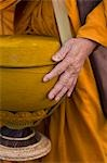 Detail of monk with his alms bowl,Isan,Thailand                                                                                                                                                          Stock Photo - Premium Rights-Managed, Artist: Axiom Photographic       , Code: 851-02963481