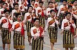 Traditionally dressed women,Ubon Ratchathani,Thailand                                                                                                                                                    Stock Photo - Premium Rights-Managed, Artist: Axiom Photographic       , Code: 851-02963508