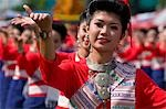 Traditionally dressed women,Ubon Ratchathani,Thailand                                                                                                                                                    Stock Photo - Premium Rights-Managed, Artist: Axiom Photographic       , Code: 851-02963511