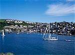 Fowey Harbour,sailboats,Cornwall,England                                                                                                                                                                 Stock Photo - Premium Rights-Managed, Artist: Axiom Photographic       , Code: 851-02963716