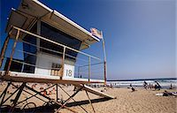Lifegaurd Station,Venice Beach,Los Angeles,California,USA                                                                                                                                                Stock Photo - Premium Rights-Managednull, Code: 851-02964054