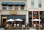 People at outdoors tables at Cantina de Cero restaurant on Randolph Street,Chicago,Illinois,USA                                                                                                          Stock Photo - Premium Rights-Managed, Artist: Axiom Photographic       , Code: 851-02964155