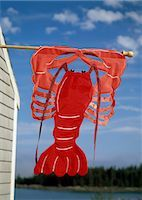 Lobster sign on Maine Coast,USA                                                                                                                                                                          Stock Photo - Premium Rights-Managednull, Code: 851-02964212
