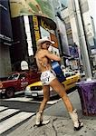 The Naked cowboy,Time Square,New York,USA                                                                                                                                                                Stock Photo - Premium Rights-Managed, Artist: Axiom Photographic       , Code: 851-02964253