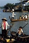 Life and traders on the Mekong River,Vinh Long,Vietnam                                                                                                                                                   Stock Photo - Premium Rights-Managed, Artist: Axiom Photographic       , Code: 851-02964439