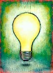 Painting of an Incandescent Lightbulb Stock Photo - Premium Royalty-Free, Artist: James Wardell            , Code: 600-02967568