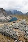 Boulders, Tombstone Mountains and Talus Lake, Tombstone Territorial Park, Yukon, Canada Stock Photo - Premium Rights-Managed, Artist: J. David Andrews         , Code: 700-02967565