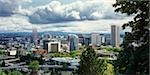 Overview of Downtown Portland, Oregon, USA                                                                                                                                                               Stock Photo - Premium Rights-Managed, Artist: Damir Frkovic            , Code: 700-02967593