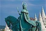 Statue of St Stephen, Buda, Budapest, Hungary