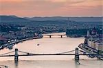 Chain Bridge, Danube River, Budapest, Hungary Stock Photo - Premium Rights-Managed, Artist: Rudy Sulgan              , Code: 700-02972720