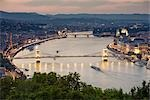 Chain Bridge, Danube River, Budapest, Hungary Stock Photo - Premium Rights-Managed, Artist: Rudy Sulgan              , Code: 700-02972721