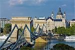Chain Bridge and Danube River, Budapest, Hungary Stock Photo - Premium Rights-Managed, Artist: Rudy Sulgan              , Code: 700-02972723