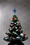 Miniature Christmas Tree Stock Photo - Premium Royalty-Free, Artist: Noel Hendrickson         , Code: 600-02972895