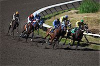 Horse Racing                                                                                                                                                                                             Stock Photo - Premium Rights-Managednull, Code: 700-02972804