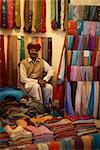 Store Owner, Meherangarh, Jodhpur, Rajasthan, India                                                                                                                                                      Stock Photo - Premium Rights-Managed, Artist: Sarah Murray             , Code: 700-02973009