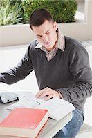 University Student Doing School Work Stock Photo - Premium Royalty-Freenull, Code: 600-02973193