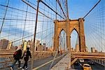 People Crossing Brooklyn Bridge, New York City, New York, USA Stock Photo - Premium Rights-Managed, Artist: Rudy Sulgan              , Code: 700-02973199
