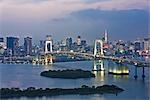 Rainbow Bridge and Tokyo Skyline, Japan Stock Photo - Premium Rights-Managed, Artist: Rudy Sulgan              , Code: 700-02973229
