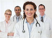 Portrait of four doctors Stock Photo - Premium Royalty-Freenull, Code: 614-02983988