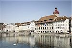 River reuss lucerne Stock Photo - Premium Royalty-Freenull, Code: 614-02985298