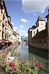Quai de l'eveche annecy Stock Photo - Premium Royalty-Freenull, Code: 614-02985324