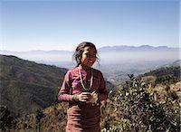 Mountain girl, Pokhara, Nepal                                                                                                                                                                            Stock Photo - Premium Rights-Managednull, Code: 855-02985849