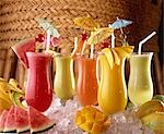 Tropical drinks                                                                                                                                                                                          Stock Photo - Premium Rights-Managed, Artist: Oriental Touch           , Code: 855-02987084