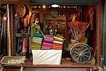 A shop selling silk at the Chatuchuk Weekend Market, Bangkok