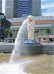The Merlion                                                                                                                                                                                              Stock Photo - Premium Rights-Managed, Artist: Oriental Touch           , Code: 855-02987855