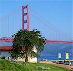 Golden Gate Bridge from Marina, San Francisco                                                                                                                                                            Stock Photo - Premium Rights-Managed, Artist: Oriental Touch           , Code: 855-02988131